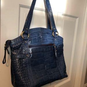 Michael Rome Blue crocodile leather purse
